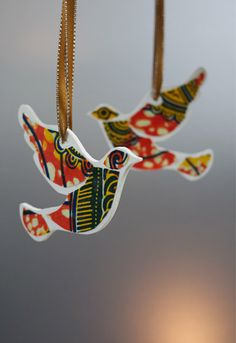 African Christmas Doves, will add some colour to my Christmas.