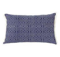 Mariko cushion, natural reverse. 65x40cm #linenandmoore #cushions #decor #love #blue