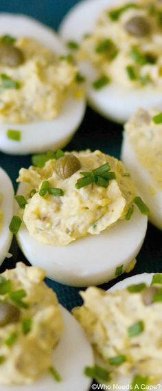Easy Appetizer Recipes, Yummy Appetizers, Appetizers For Party, Deviled Eggs Recipe, Incredible Edibles, Party Food And Drinks, Egg Dish, Egg Recipes, Deviled Eggs