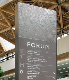 The Forum Building by Peter Clarkson at Coroflot.com (the texture on the sign related to the texture of the roof)