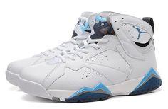 Nike Air Jordan 7 Retro White Blue Men Shoes