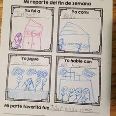 3 Ways to do Weekend Talk in Your Spanish Class Weekend In Spanish, High School Spanish, Elementary Spanish, Teaching Spanish, Bilingual Classroom, Spanish Classroom, Kindergarten Classroom, Transitional Kindergarten, 2nd Grade Writing