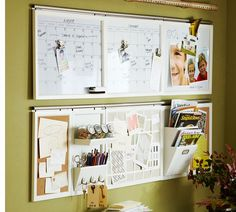 Wall Organization Systems    I've come to realize that in my home office I need to be able to pin up a lot of things, as well as have an ea...