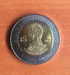 Vicente Guerrero, monedas de México