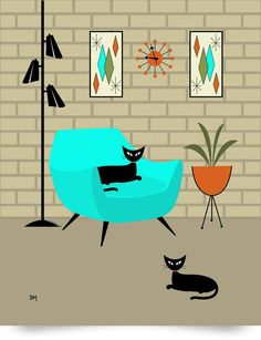 retro cat - Google Search