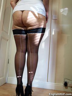 English MILF Daniella http://www.englishmilf.co.uk flashing my juicy ass and seamed stockings today