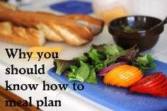 why you should know how to meal plan