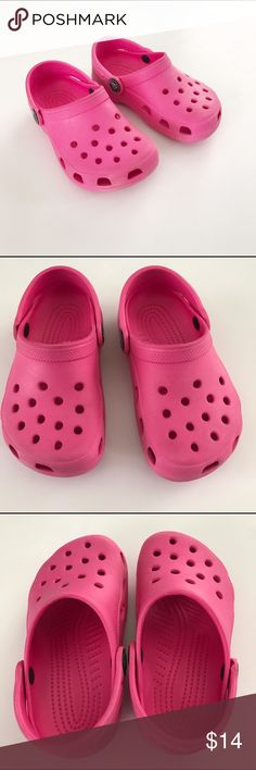 Jibbitz Crocs Presley Childrens Party Pink Clogs Sandals Summer Shoe UK Size 6-1