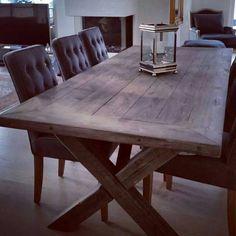 Levering av bord Slitsomt å bo i Dining Table, Rustic, House, Instagram, Furniture, Tables, Home Decor, Dining Room, Country Primitive