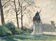 Alexandre Nikolayevich Benois (1870-1960)  Jardin du Luxembourg, Paris. 21.IV-3.V.1942 Aquarelle, crayon. 21,5 x 29 cm, collection privée