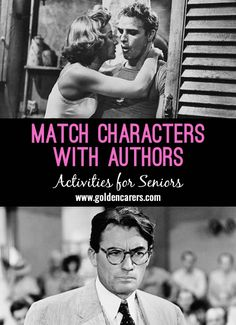 # World Book Day - April 23 # Match these famous characters with the authors that created them. A fabulous reminiscing quiz for the elderly!