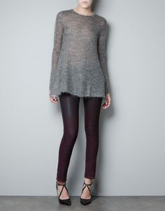 TWO-TONE SWEATER - Knitwear - Woman - ZARA United States