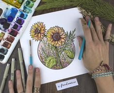 Inspired by the transition from Summer to Fall ----- Watercolor + Ink Printon 60lb Canvas Paper Signed + by the Artist Becca Stevens - Freedom Rise