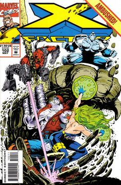 X-Factor comic book cover.