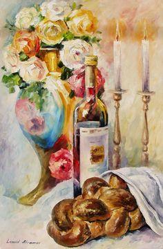 Old painting Leonid Afremov Old Paintings, Beautiful Paintings, Good Shabbos, Arte Judaica, Long Painting, Hippie Art, Jewish Art, Painting Process, Judaism