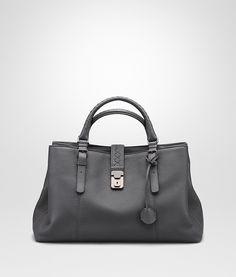 NEW LIGHT GREY CERVO ROMA BAG - Women's Bottega Veneta® Top Handle Bag - Shop at the Official Online Store