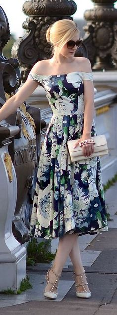 Black Multi Floral Off Shoulder Maxi Dress by Oh My Vogue....I wish I had this dress and places to go to wear this dress lol