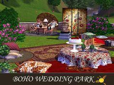 evi's Sims 3 Downloads Picnic Blanket, Outdoor Blanket, Sims 3, Boho Wedding, Park, Bohemian Weddings, Parks, Picnic Quilt