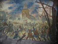 Battle of Baia The Moldavian army of Stefan the Great defeats the Hungarian army of Matthais Corvinus. Painting from the National History Museum Bucharest. History Museum, World History, Vlad The Impaler, National History, Late Middle Ages, Medieval Times, Moldova, Ottoman Empire, 15th Century