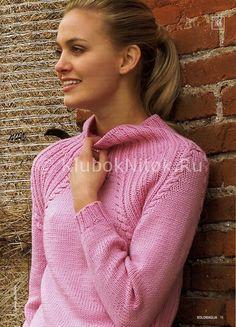 Молодежный свитер | Вязание для женщин | Вязание спицами и крючком. Схемы вязания.