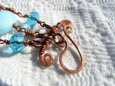Hand made copper bracelet...claps
