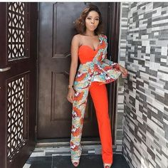 Gorgeous Ankara Jumpsuit Styles 2019 There are several cute ways to slay Ankara Trousers/pants watch this video to see the stunning ways, also find out how to rock your jumpsuit this summer. African Fashion Ankara, Latest African Fashion Dresses, African Print Fashion, Africa Fashion, Nigerian Fashion, Ankara Dress Styles, African Print Dresses, African Dress, African Jumpsuit