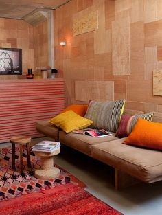 Patchwork Plywood Paneling: Apt. Therapy
