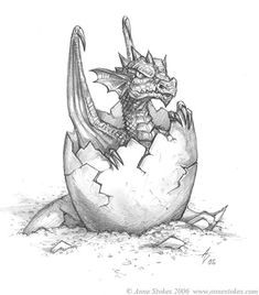 Hatchling by Ironshod on DeviantArt - dragon - Zeichnung Fantasy Drawings, Pencil Art Drawings, Art Drawings Sketches, Animal Drawings, Cool Drawings, Fantasy Art, Tattoo Sketches, Dessin Game Of Thrones, Dragon Coloring Page