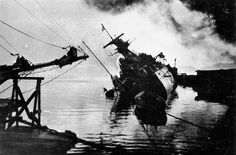 Wrecked Marseillaise, Toulon, France, date unknown