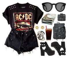 """Dirty Deeds"" by deca-froses ❤ liked on Polyvore featuring ASOS, Motel, Holga and Iosselliani"