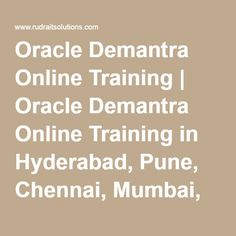 Oracle Demantra Online Training | Oracle Demantra Online Training in Hyderabad, Pune, Chennai, Mumbai, banglore,India, USA, UK, Australia, New Zealand, UAE, Saudi Arabia,Pakistan, Singapore, Kuwait -Rudra It Solutions