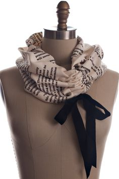 Pride and Prejudice Light Weight Summer Book Scarf by storiarts, $45.00