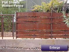 Rusted metal fence by Rustedcorrugated.com...& some great designer...