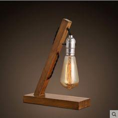 Vintage Edison lâmpada De Mesa De madeira / Mesa De madeira Tafellamp De lâmpadas para sala De estar, Lâmpadas Abajur Luminaria De Mesa em Lâmpadas de mesa de Luzes & Iluminação no AliExpress.com | Alibaba Group