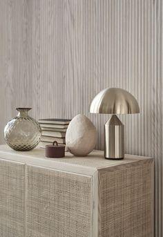 Currently Coveting: The Atollo Lamp – iconic atollo lamp, metal finish Atollo Lamp, Minimalism Living, Interior Styling, Interior Decorating, Color Interior, World Of Interiors, Traditional Decor, Home Decor Trends, Interiores Design