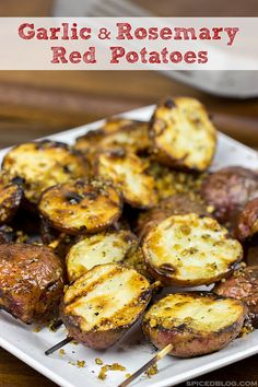 Perfectly golden and lightly crispy on the outside.  Fully cooked on the inside.  These Rosemary and Garlic Grilled Red Potatoes are a year-round favorite side dish!