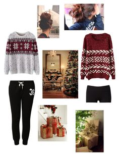 """Twin sisters on Christmas morning <3"" by wazza-its-hash ❤ liked on Polyvore featuring beauty, Chicnova Fashion, TWINTIP and Forever 21"