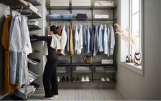 When organising a closet, it's good to know how much space you are working with, especially if you are installing storage. Write down the dimensions of the room, preferably along with a sketch. Don't forget to include things like doors, windows, airconditioners.