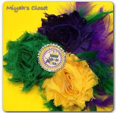Mardi Gras Hair Clip Let the Good Times Roll Hair by MiyahsCloset