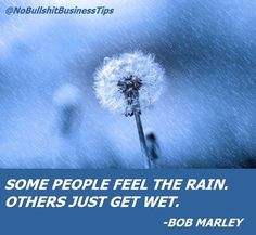 """I'm not going pile a bunch of words on top of Bob's so I'll come at it sideways: .  Are you enjoying your (entrepreneurial) journey?  Are you loving the the challenge of building your business? Or just enduring the pain of the """"grind?""""  As Bob Marley said so eloquently: Are you FEELIN' the RAIN? Or just gettting WET? . Followup question now that we're on the subject - are you bullshitting yourself about what you're doing and why you're doing it? Are you having fun? Any joy? (Yeah I know we…"""