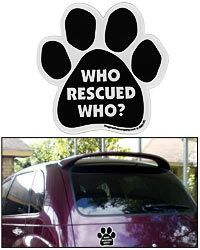 Who Rescued Who Car Magnet at The Animal Rescue Site
