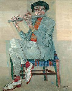 Cândido Portinari - Flautista 1956