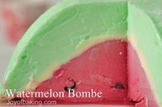 Watermelon ice cream Bombe