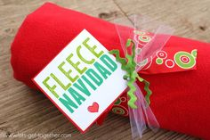 Fleece Blanket Neighbor Gift - 1 of 4 easy gift ideas with free printable gift tags!