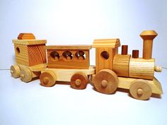 Wooden Toy Train Set - Heirloom Quality - Classic Toy - Hand Crafted - All…