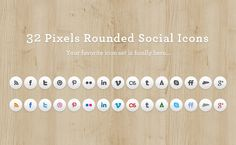 A pack of rounded social media icons with normal and hover states. The package includes of . - posted under by Fribly Editorial Social Network Icons, Social Media Icons, Web Banner Design, Online Labels, Website Icons, Interactive Design, Graphic Design Inspiration, Icon Set, Weaving