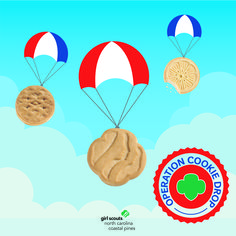 Operation Cookie Drop is back! Girl Scouts will have the chance to collect donations for boxes of cookies to give to our military men and women throughout the 2021 Girl Scout Cookie Program. We can't wait to show them how much we appreciate their service!
