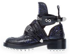 Balenciaga Cut out Biker Boot by Nicolas Ghesquière Boots Tumblr, Tap Shoes, Dance Shoes, Cutout Boots, Balenciaga Spring, Shoe Collection, Fashion Boutique, All Black Sneakers, Ankle Boots