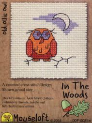Mouseloft In The Woods Counted Cross Stitch Kit - Old Ollie Owl