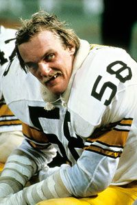 JACK LAMBERT -- The Anchor of the STEEL CURTAIN Defense of the 70's.  When I became a fan.